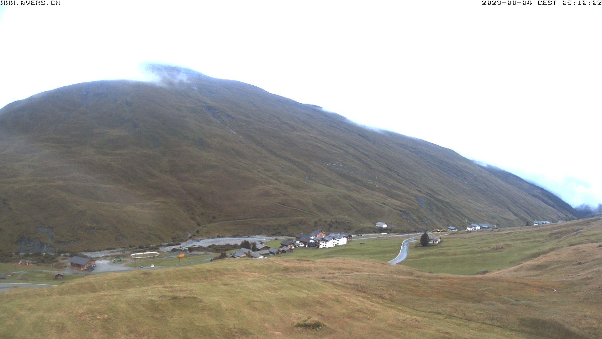 Grossansicht 05h - Avers Skilift Cavetta mit Sicht in die Bregalga.