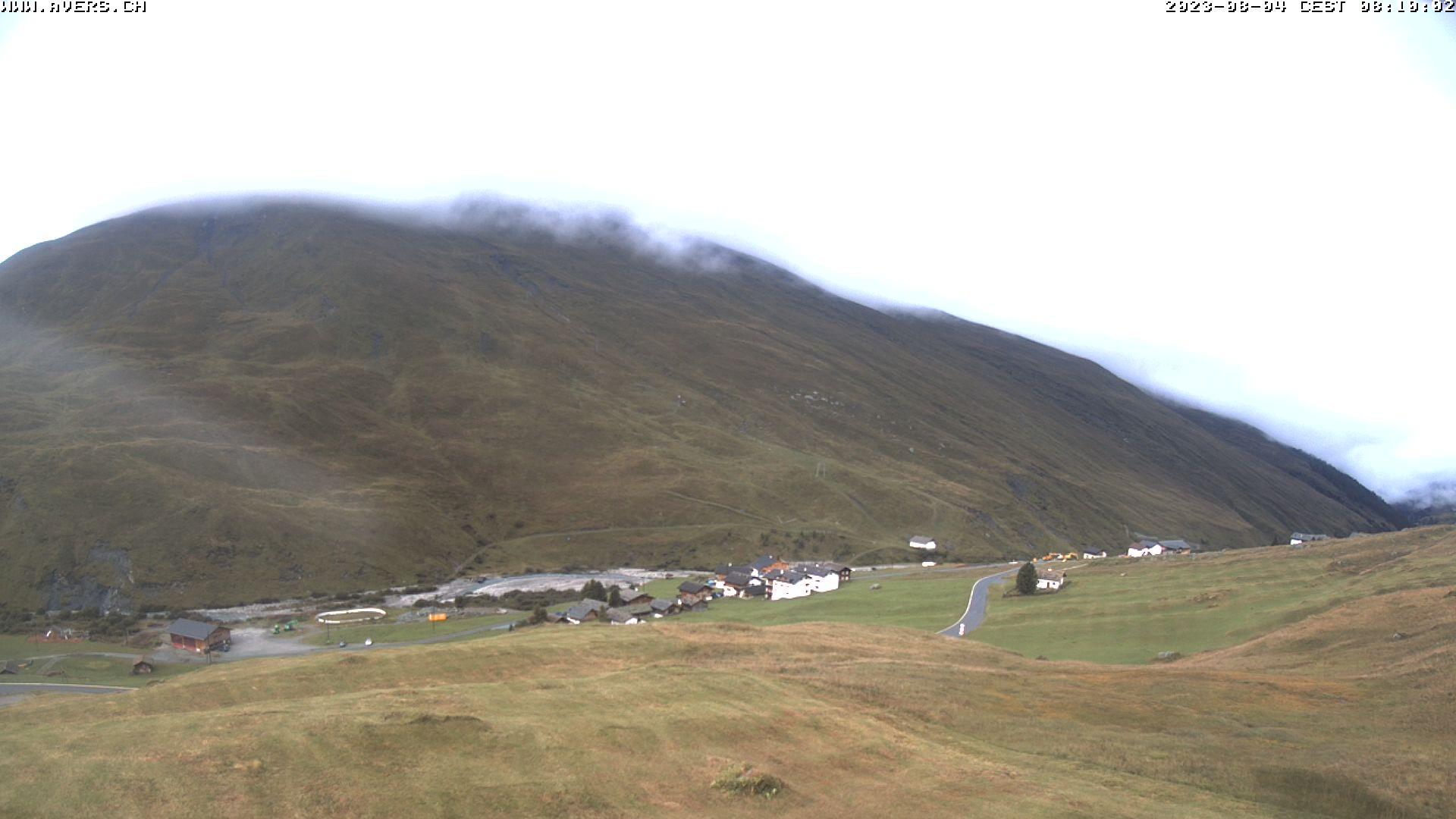 Grossansicht 08h - Avers Skilift Cavetta mit Sicht in die Bregalga.