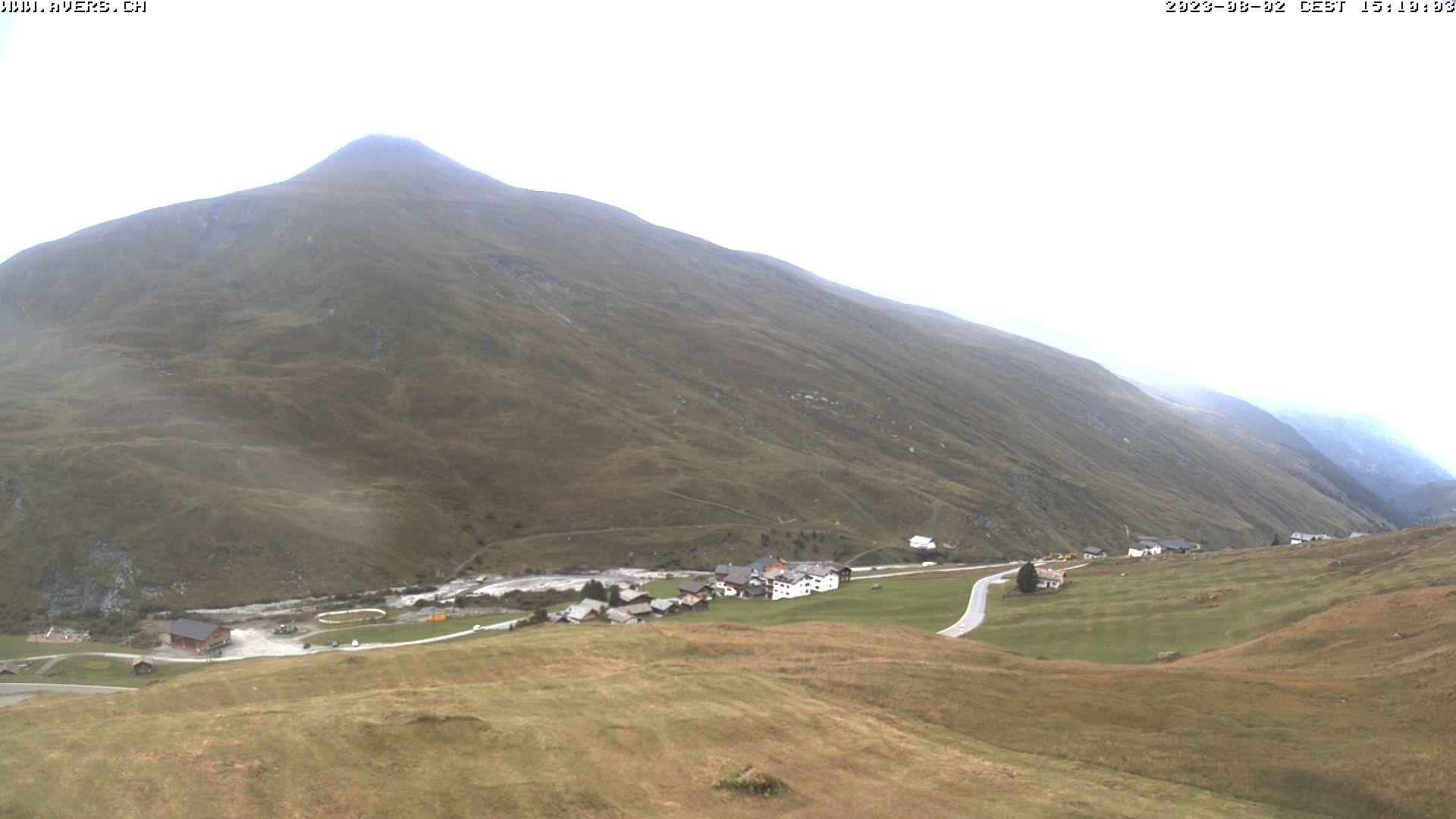 Grossansicht 15h - Avers Skilift Cavetta mit Sicht in die Bregalga.