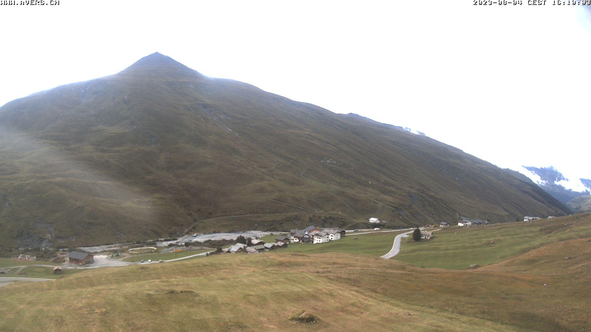Grossansicht 16h - Avers Skilift Cavetta mit Sicht in die Bregalga.