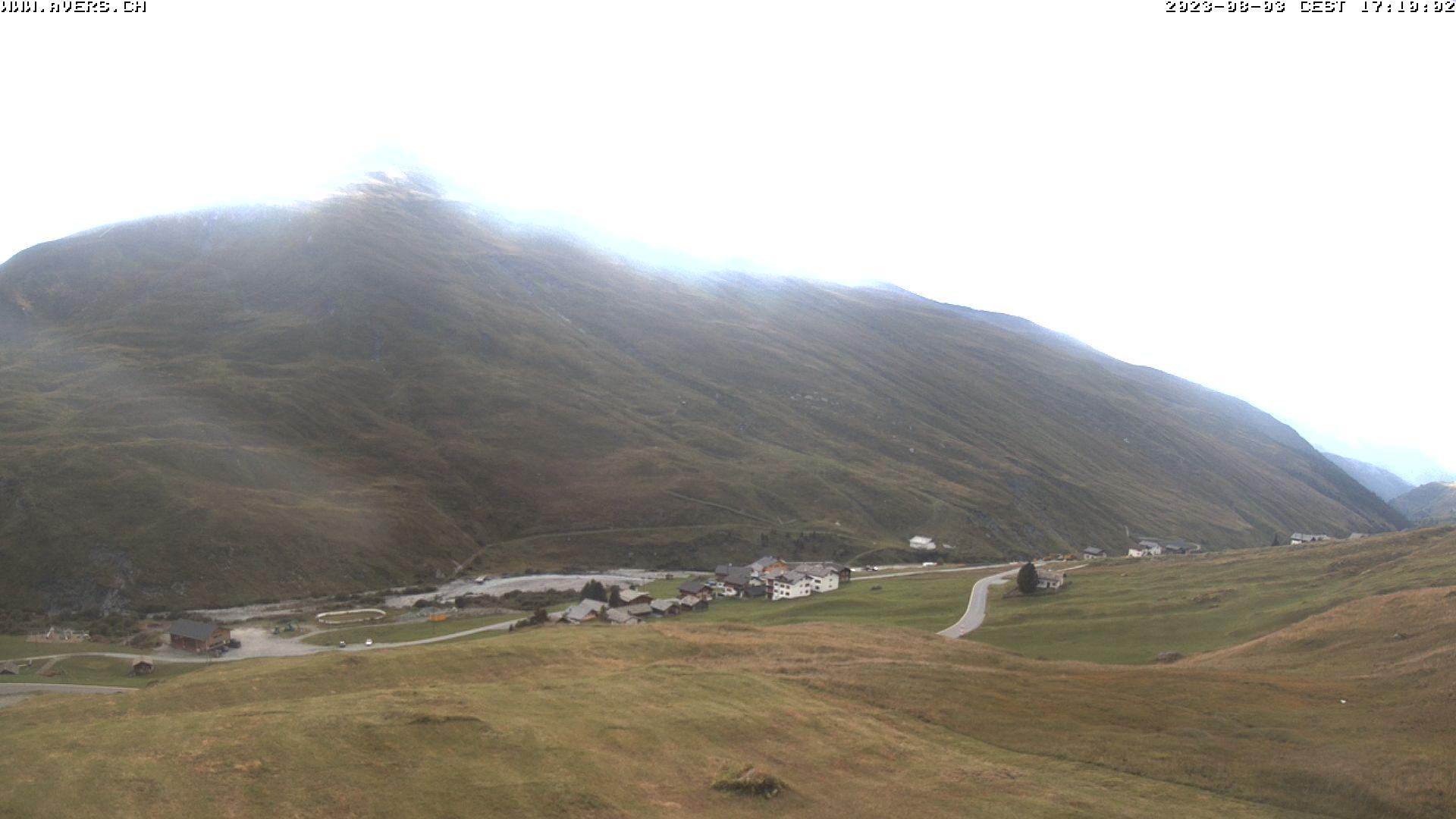 Grossansicht 17h - Avers Skilift Cavetta mit Sicht in die Bregalga.