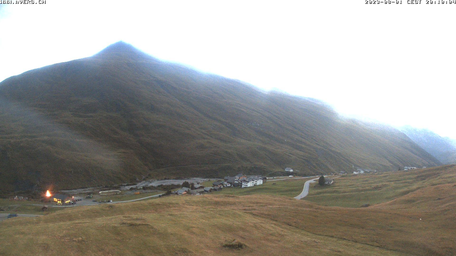 Grossansicht 20h - Avers Skilift Cavetta mit Sicht in die Bregalga.