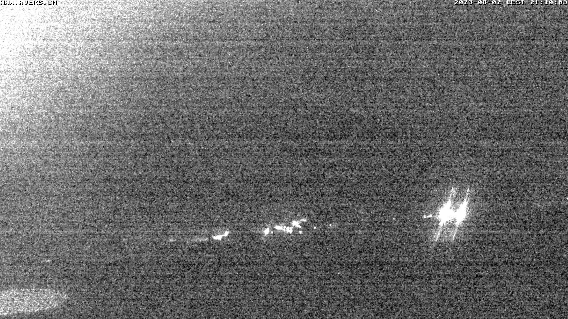 Grossansicht 21h - Avers Skilift Cavetta mit Sicht in die Bregalga.