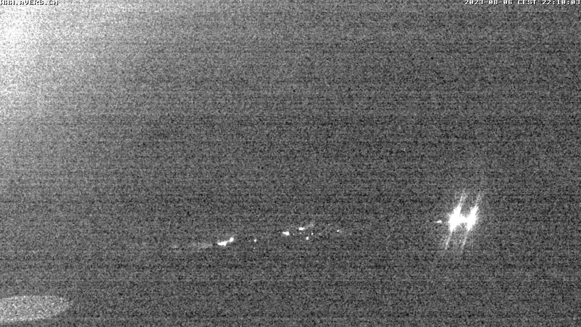 Grossansicht 22h - Avers Skilift Cavetta mit Sicht in die Bregalga.