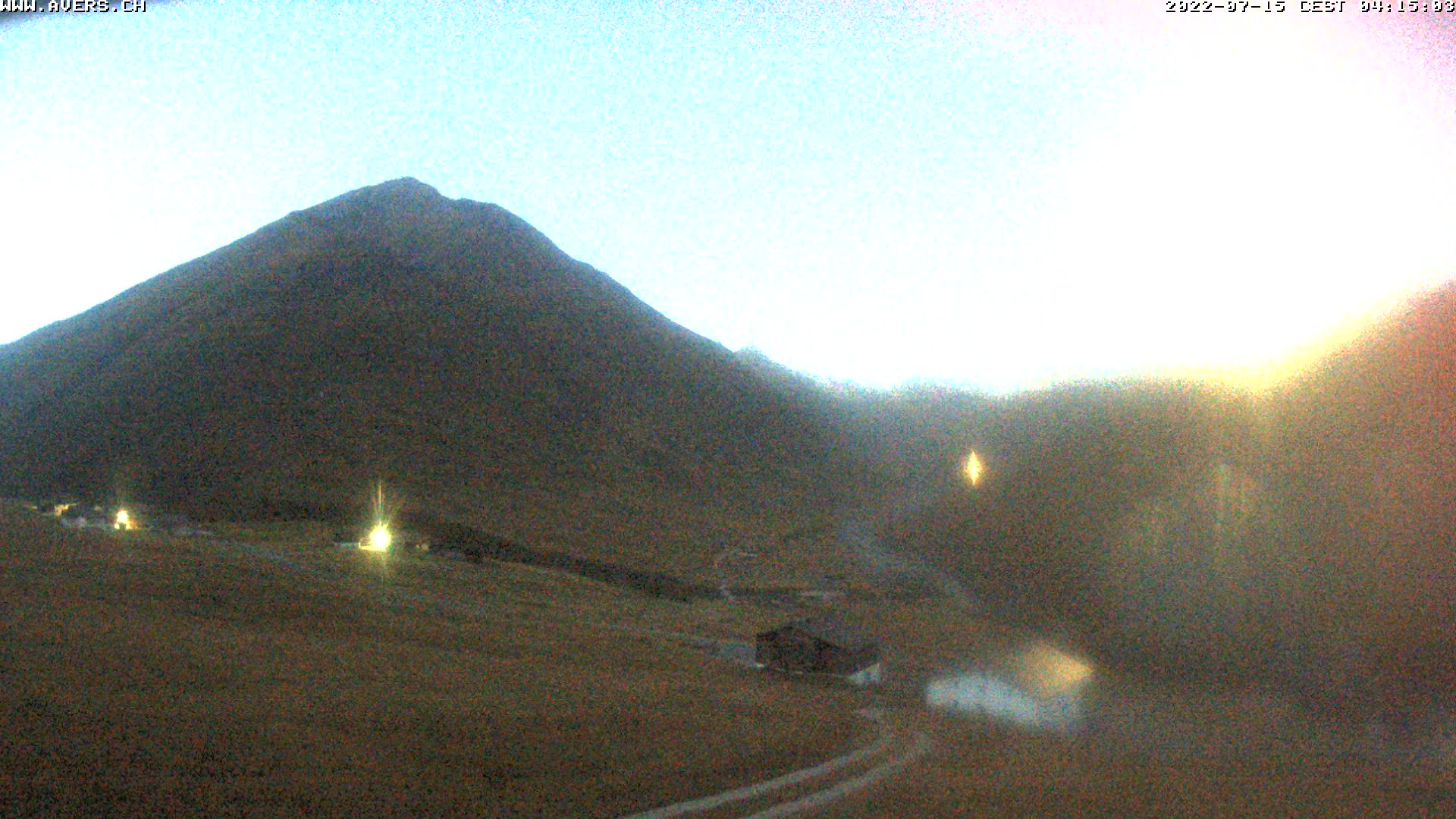 Aktuelle Wetterverhältnisse in Avers Cavetta, Sicht auf Bergalga